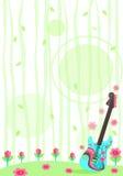 固定式自然的吉他 库存图片