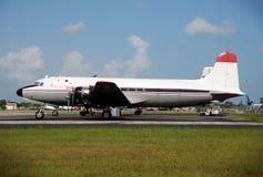 固定式航空器的货物 库存图片