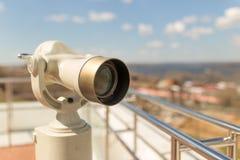 固定式观察双筒望远镜 图库摄影