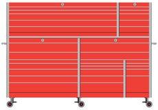 固定式金属工具箱 向量例证