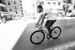 固定的齿轮自行车 免版税图库摄影