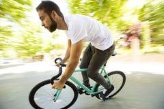 固定的齿轮自行车 免版税库存图片