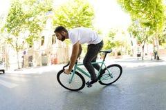 固定的齿轮自行车 免版税库存照片