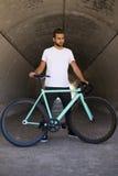 固定的齿轮自行车 库存图片