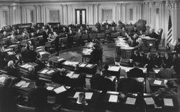 国会听证会在会议上 免版税图库摄影