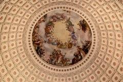 国会图书馆圆形建筑的华盛顿 库存照片