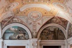 国会图书馆天花板华盛顿 库存图片