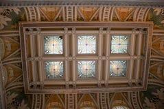 国会图书馆天花板 库存图片