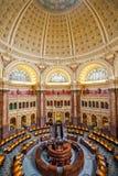 国会图书馆天花板DC的主要霍尔 库存图片