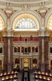 国会图书馆的内部在华盛顿特区,阅览室的 库存图片