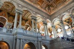 国会图书馆,在华盛顿特区,内部 库存照片
