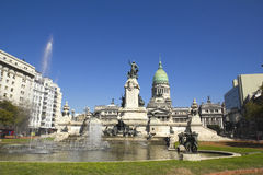 国会在布宜诺斯艾利斯,阿根廷 库存照片