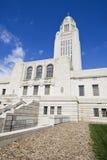 国会大厦内布拉斯加状态 免版税库存照片