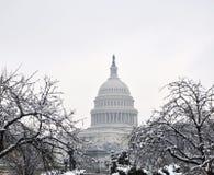 国会大厦冬天 库存图片