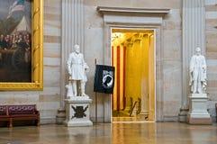 国会大厦圆形建筑的雕象我们 免版税库存照片