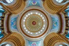 国会大厦圆顶内部 免版税库存图片