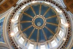 国会大厦圆顶内部mn保罗st 库存图片