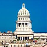 国会大厦圆顶哈瓦那包括视图 免版税图库摄影