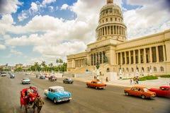 国会大厦在哈瓦那,古巴 免版税库存图片
