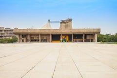 国会大厦复合体,昌迪加尔 图库摄影