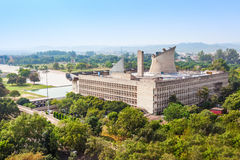 国会大厦复合体,昌迪加尔 库存照片