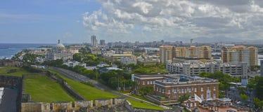 国会大厦大厦和sorroundings,波多黎各 免版税库存图片