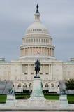 国会大厦大厦在一个多云早晨,华盛顿 库存照片
