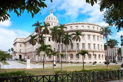 国会大厦大厦在哈瓦那 免版税库存图片