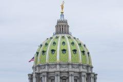 国会大厦大厦在街市哈里斯堡,宾夕法尼亚 免版税库存照片