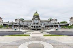 国会大厦大厦在街市哈里斯堡,宾夕法尼亚 免版税图库摄影