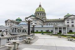 国会大厦大厦在街市哈里斯堡,宾夕法尼亚 库存照片
