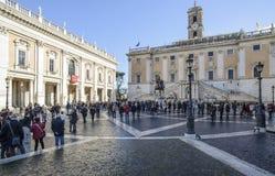 国会大厦方形的罗马意大利欧洲 库存图片