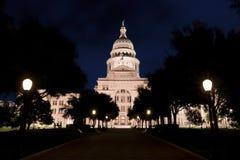 国会大厦晚上状态得克萨斯 免版税图库摄影