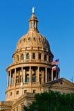 国会大厦状态日落得克萨斯 免版税库存照片