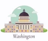 国会大厦的传染媒介例证在华盛顿 库存例证