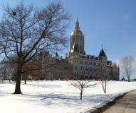 国会大厦视图冬天 免版税库存照片