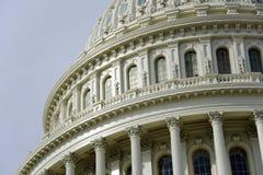 国会大厦详细资料覆以圆顶我们 免版税库存照片