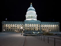 国会大厦Buiding在盐湖城 图库摄影