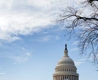 国会大厦dc圆顶天空华盛顿 免版税库存照片