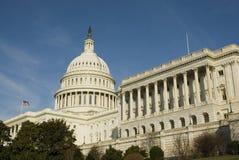 国会大厦dc覆以圆顶我们华盛顿 免版税库存图片