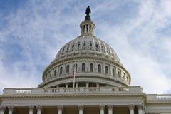 国会大厦dc覆以圆顶我们华盛顿 免版税库存照片