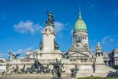 国会广场在布宜诺斯艾利斯,阿根廷 库存照片