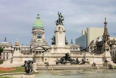 国会广场布宜诺斯艾利斯 库存图片