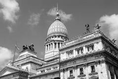 国会广场阿根廷国会 库存照片