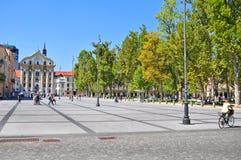 国会正方形,卢布尔雅那,斯洛文尼亚 免版税库存图片