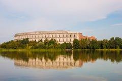 国会霍尔& x28; Kongresshalle& x29; 纽伦堡,德国 免版税库存图片