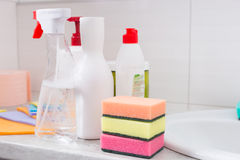 国内清洁产品的选择 免版税图库摄影