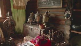 国内生活对象在Kabardian文化博物馆  股票录像