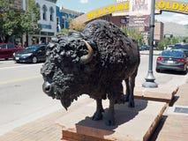 国君雕象在金黄科罗拉多 免版税库存照片