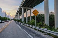 国外高速公路在佛罗里达群岛 库存照片